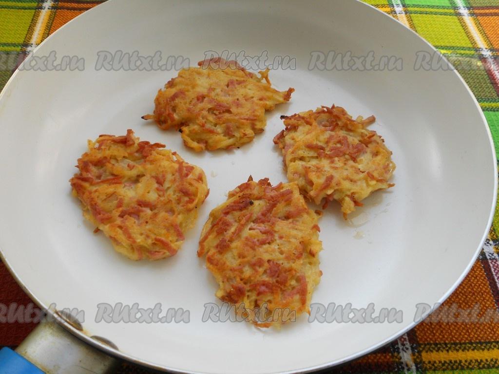 Рецепты драники с колбасой