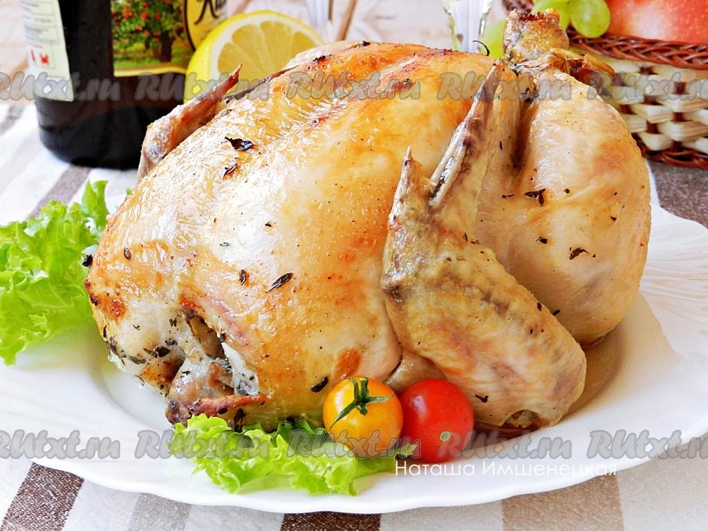 курица в духовке с картошкой с лимоном в духовке рецепт с фото