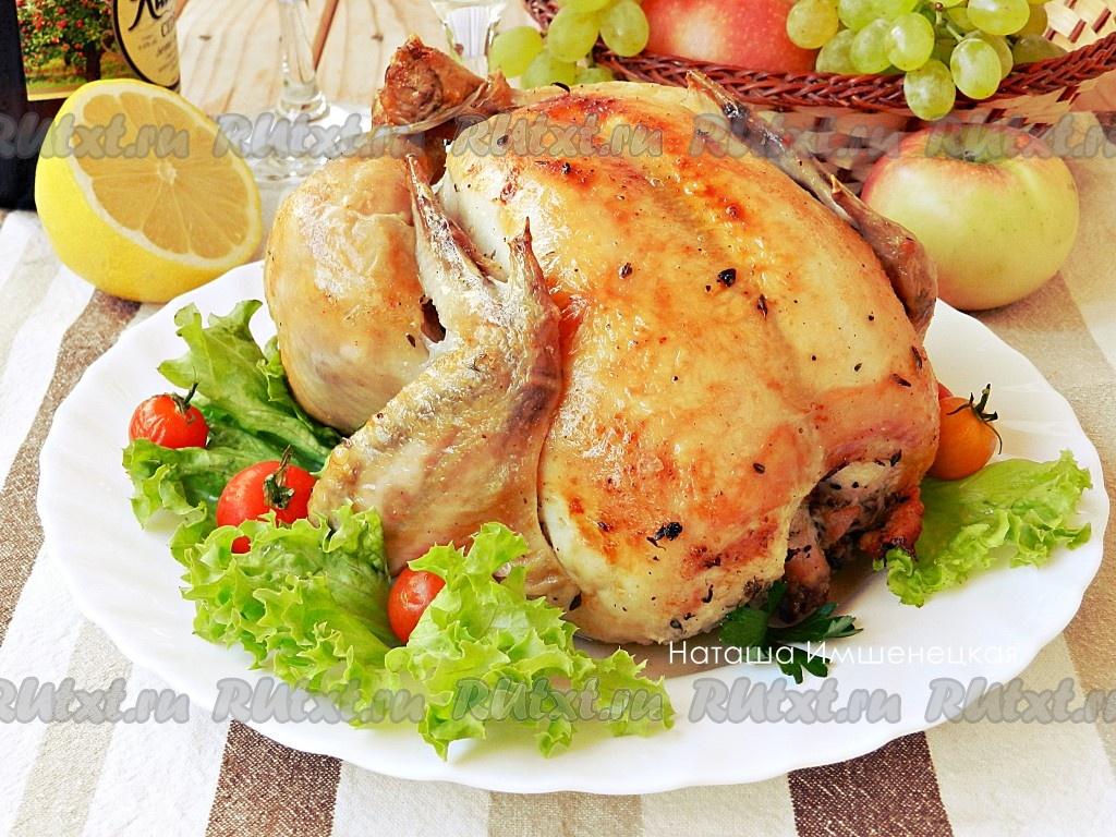 рецепт курица запеченная с лимоном целиком