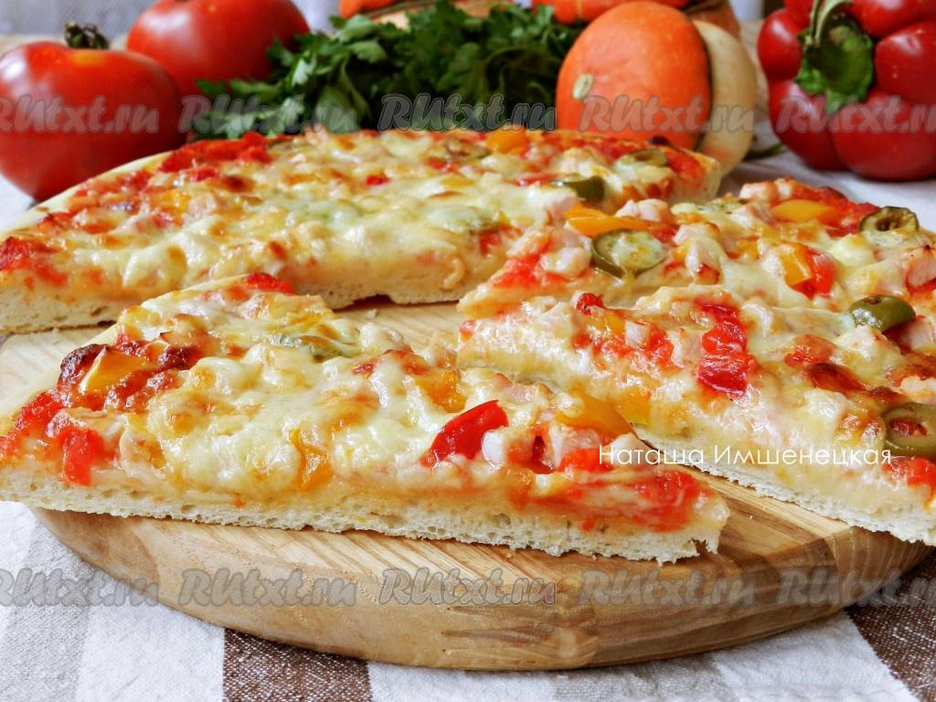 тесте Рецепт приготовления вкусной тонком пиццв на