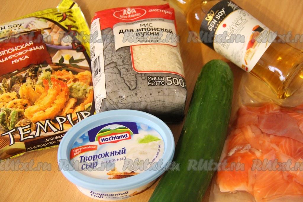 рецепт приготовления роллов в домашних условиях в фото