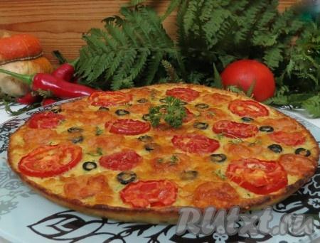 Кабачковая пицца, приготовленная в духовке, получается такой нежной и вкусной!
