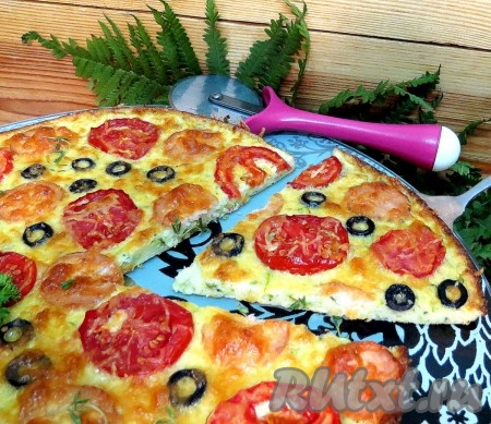 А так пицца выглядит в разрезе.