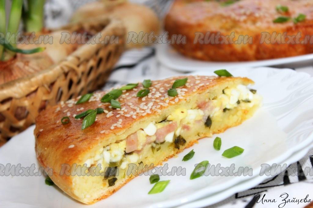 Рецепт пирога с колбасой и сыром