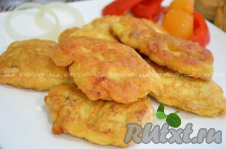 Вкусное куриное филе в пивном кляре готово. Подаем с картофельным пюре, рисом или овощным салатом. Попробуйте курицу в пивном кляре, разочароваться невозможно!