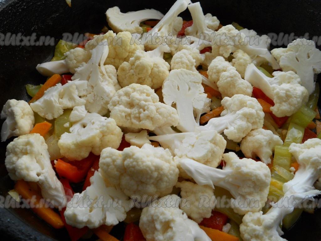 Цветная капуста рецепты приготовления в мультиварке с овощами