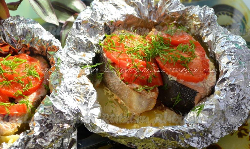 Порционное мясо в фольге с картошкой в духовке рецепт с фото