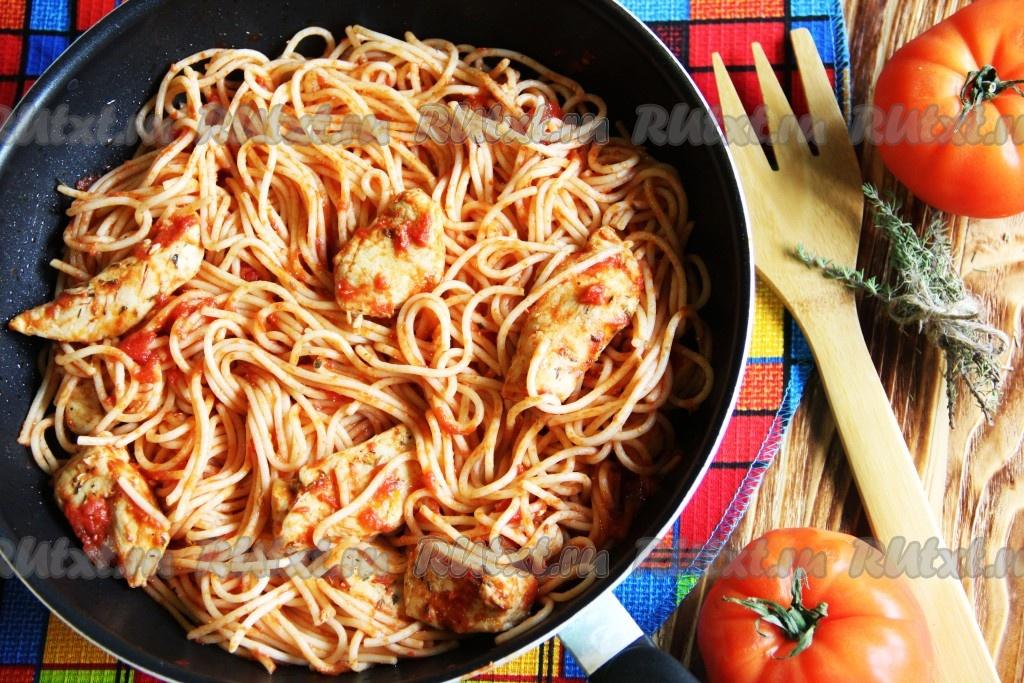 Куриная грудка и спагетти рецепты с фото