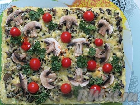 Кабачковый торт с помидорами и сыром в духовке рецепт