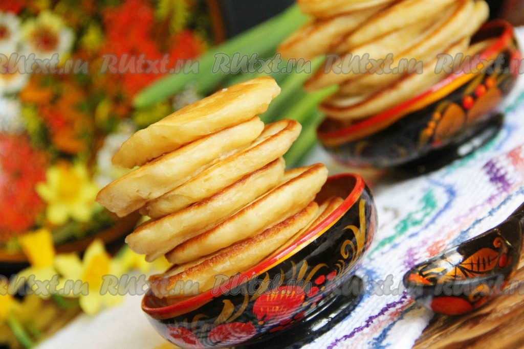 Рецепты оладьев на кефире с дрожжами