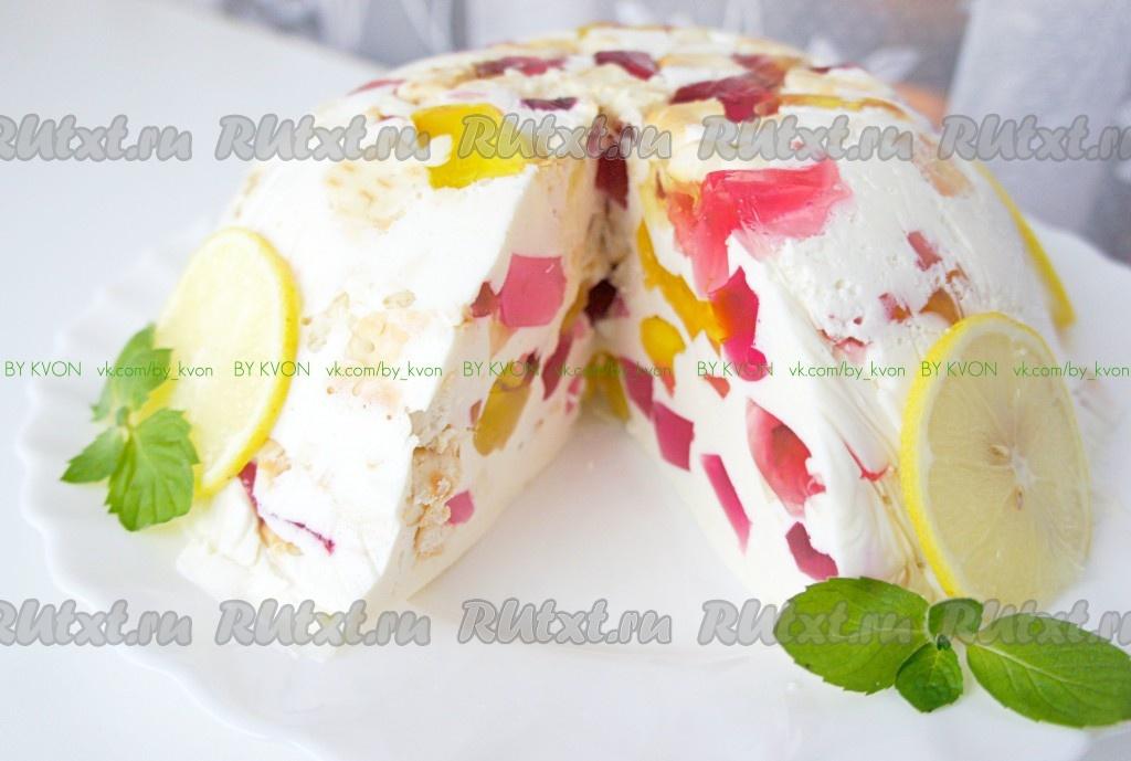 Торт без выпечки из желе рецепт