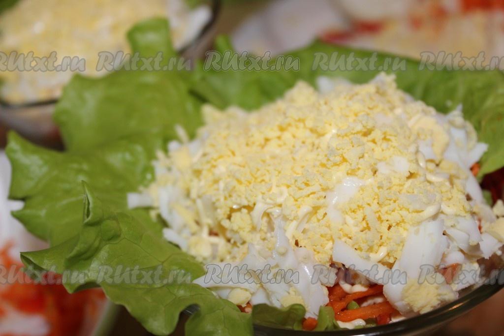 рецепт салата из копченой курицы и корейской моркови и болгарского перца