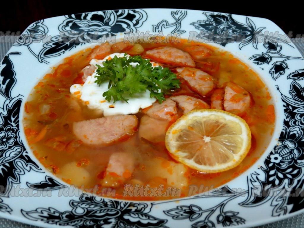 суп шахтерский с гречкой и колбасой рецепт с фото