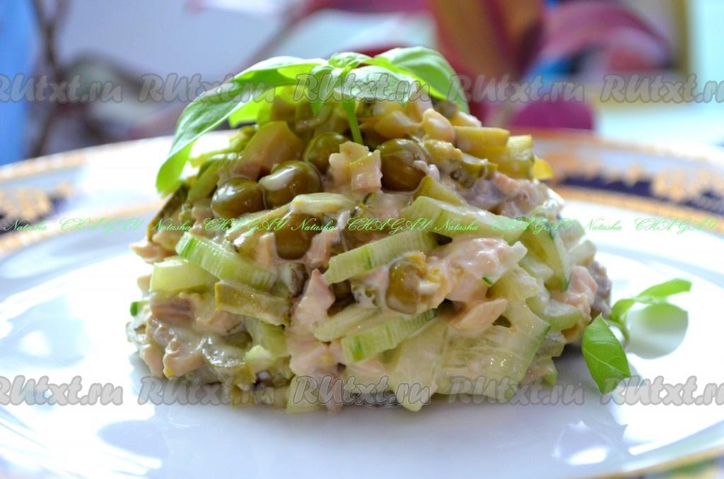 рецепты салатов с курицей и маринованными шампиньонами