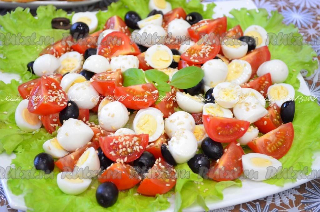 рецепты салатов и шампиньонами и помидорами