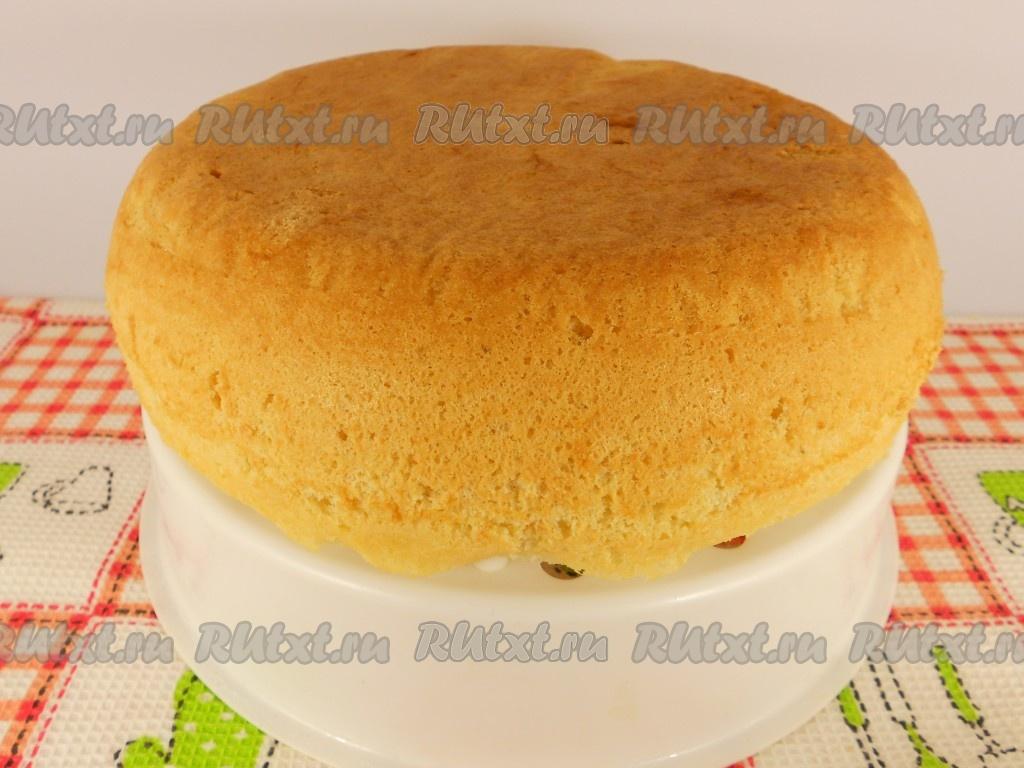 Торт бисквитный пышный рецепт в домашних условиях