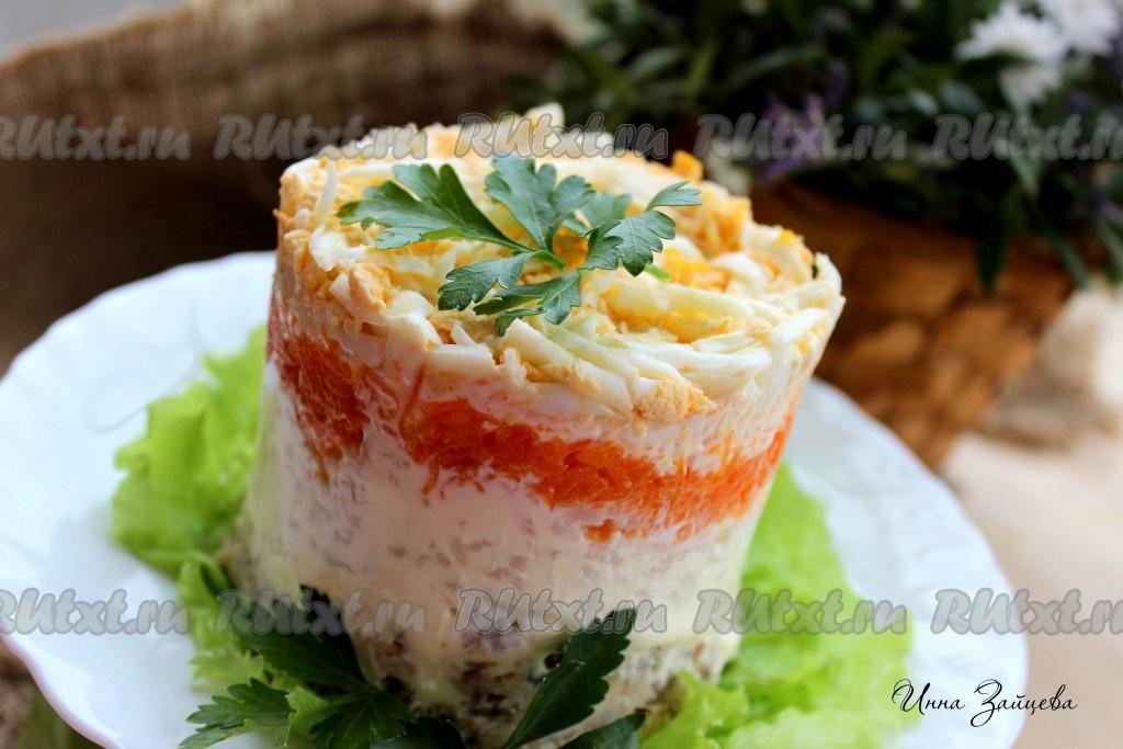 салат из рыбных консервов рецепт мимоза с рисом