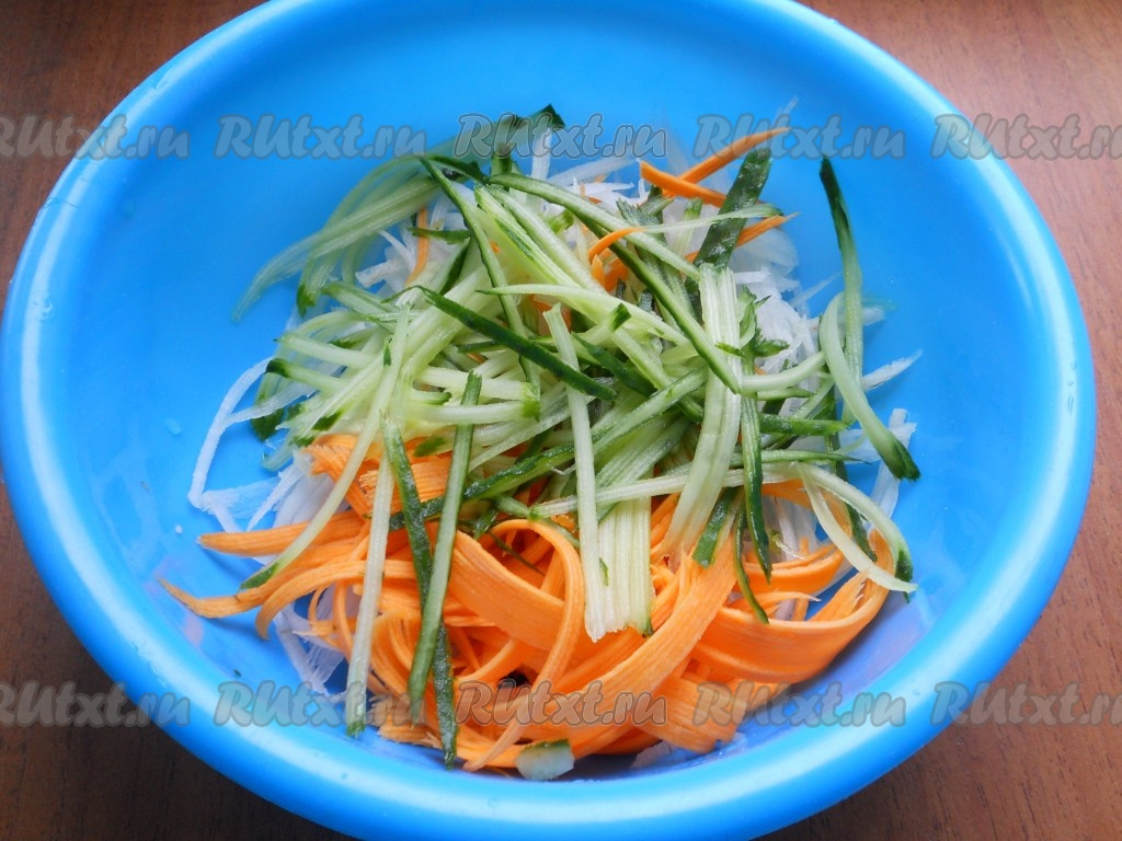 Вкусные салаты с дайконом рецепт