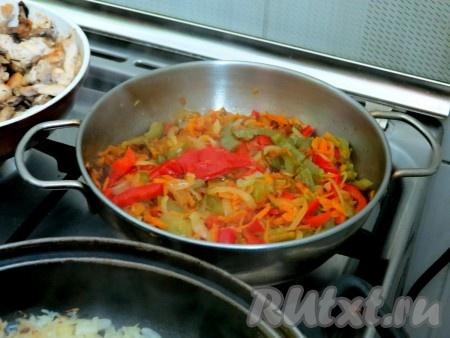 Овощи готовы, они мягкие, но не пережаренные.