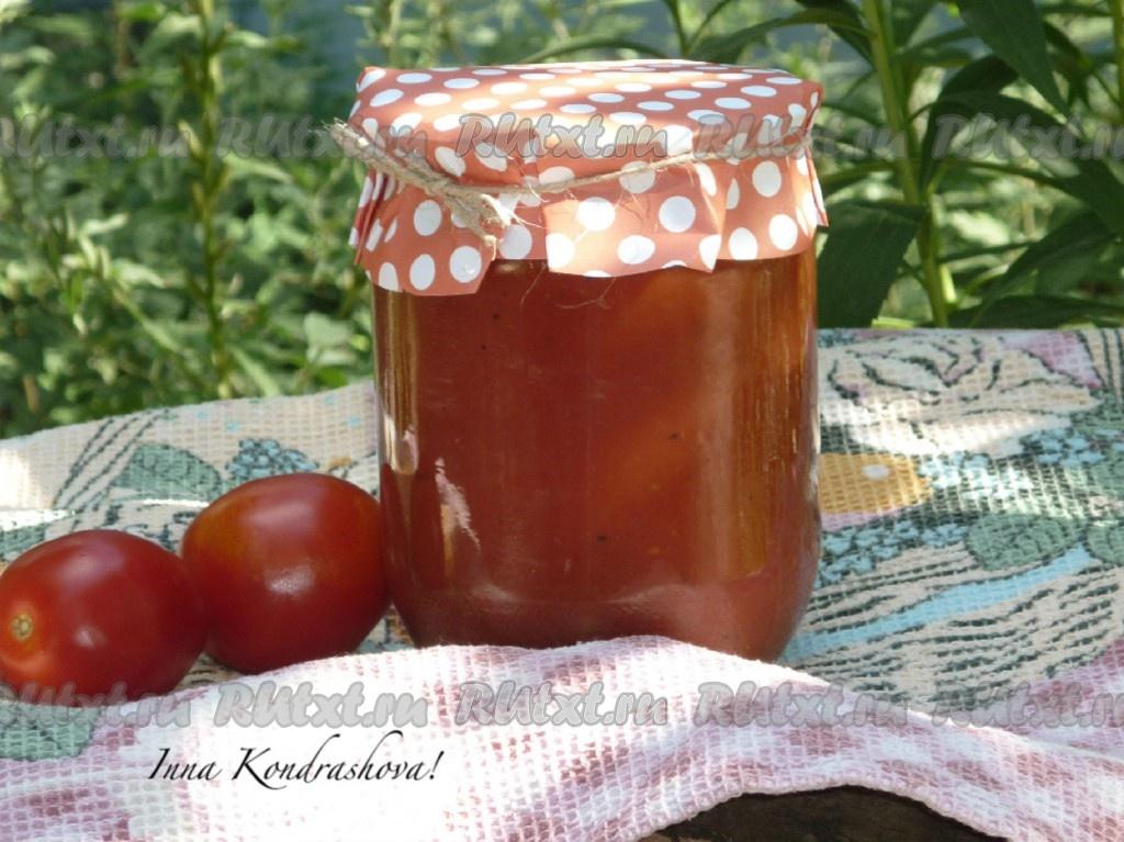 Кетчуп из томатного сока на зиму в домашних условиях