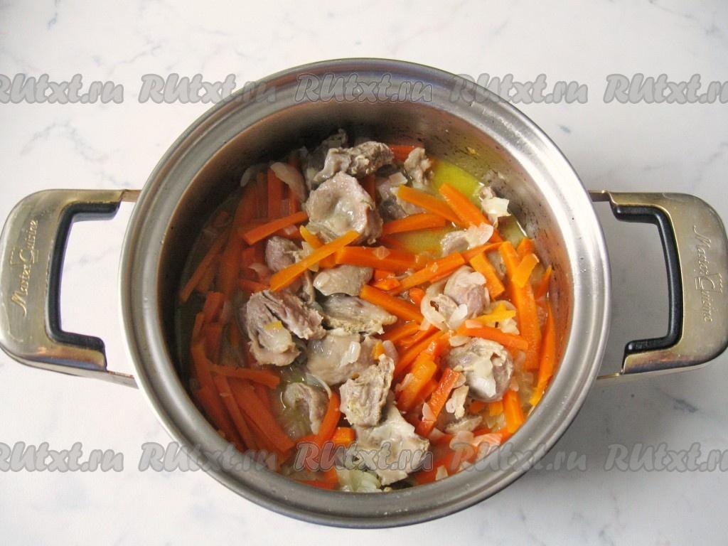 куриные желудочки с луком рецепт приготовления
