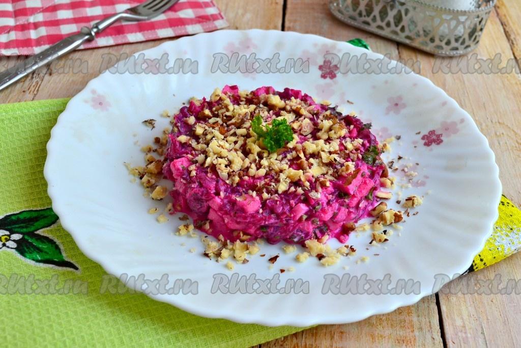 салат из свеклы и картошки рецепт с фото