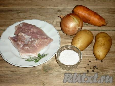 рецепт приготовления свинина в духовке с картошкой в