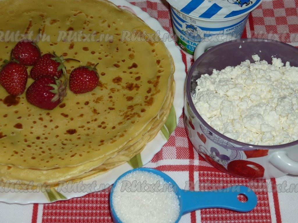 Творожный крем для блинчиков рецепт