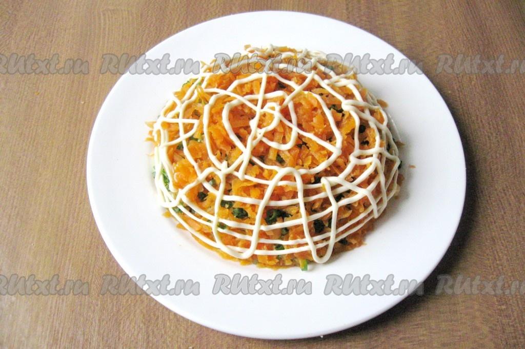 Рецепт салата подсолнуха с чипсами без грибов