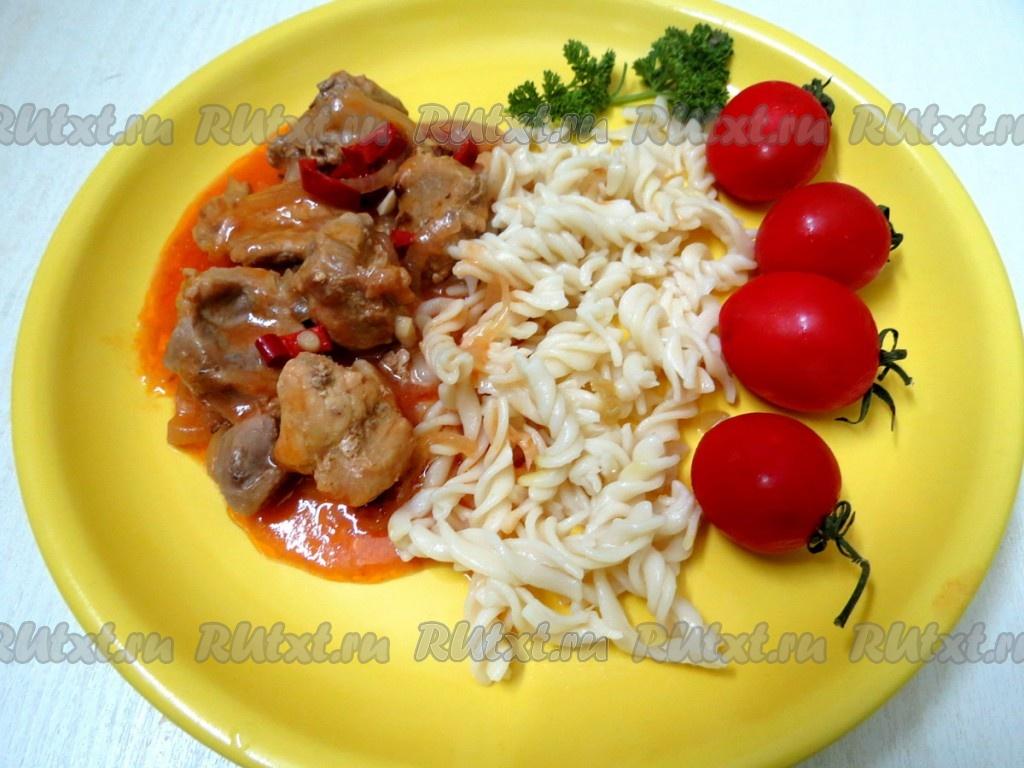 рецепт курицы в томатном соусе на сковороде рецепт с фото