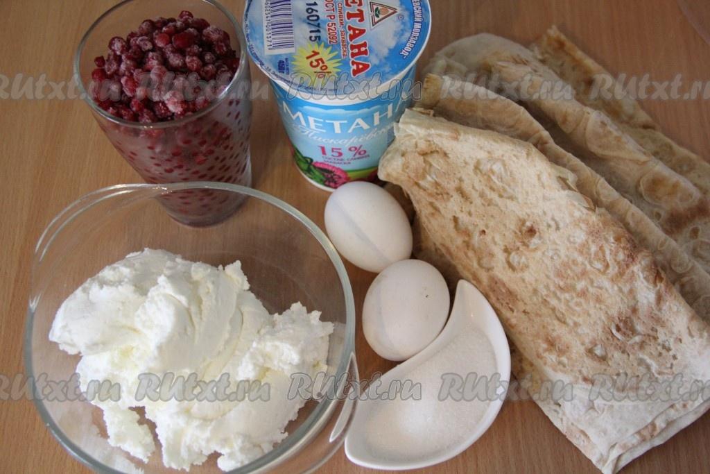 творожный пирог со сметаной в духовке рецепт