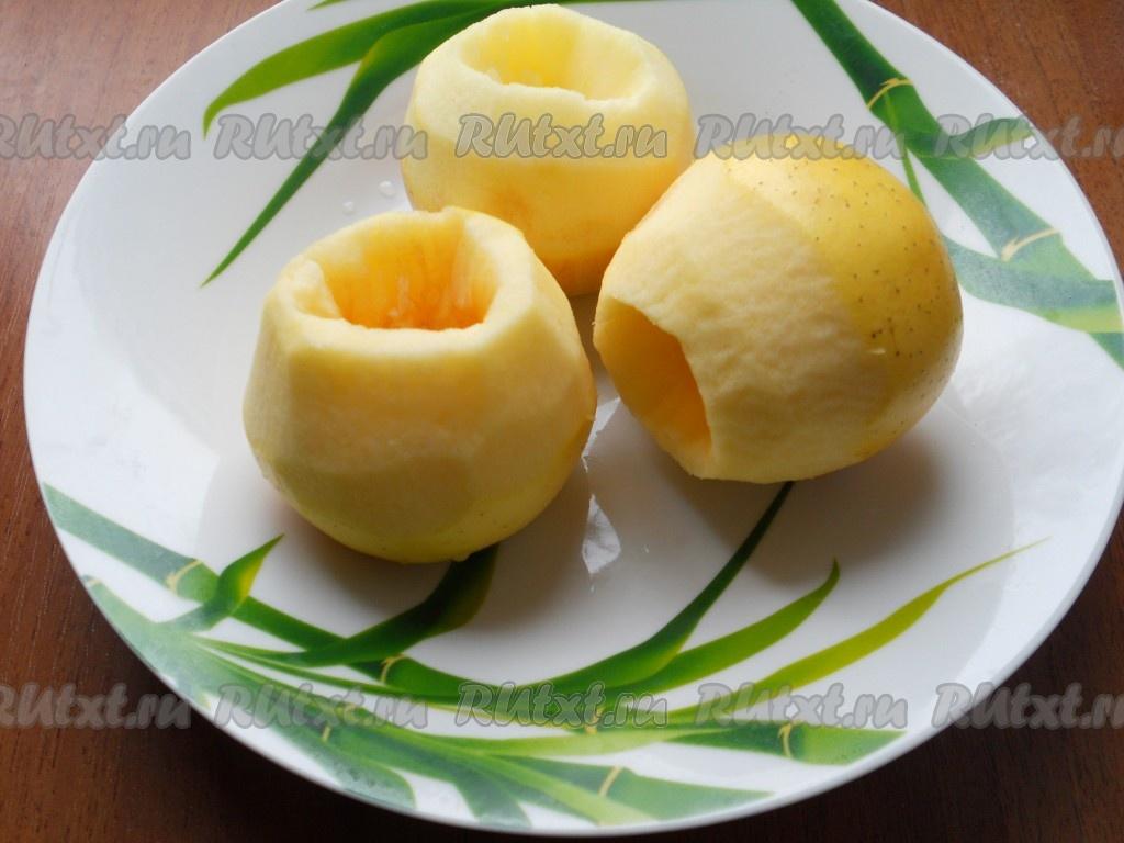 рецепт яблоки с медом и корицей в духовке рецепт