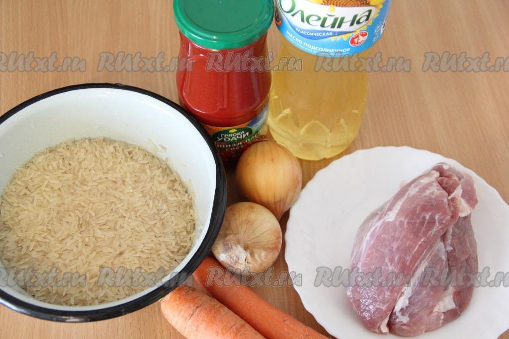 Как приготовить плов со свинины фото рецепт