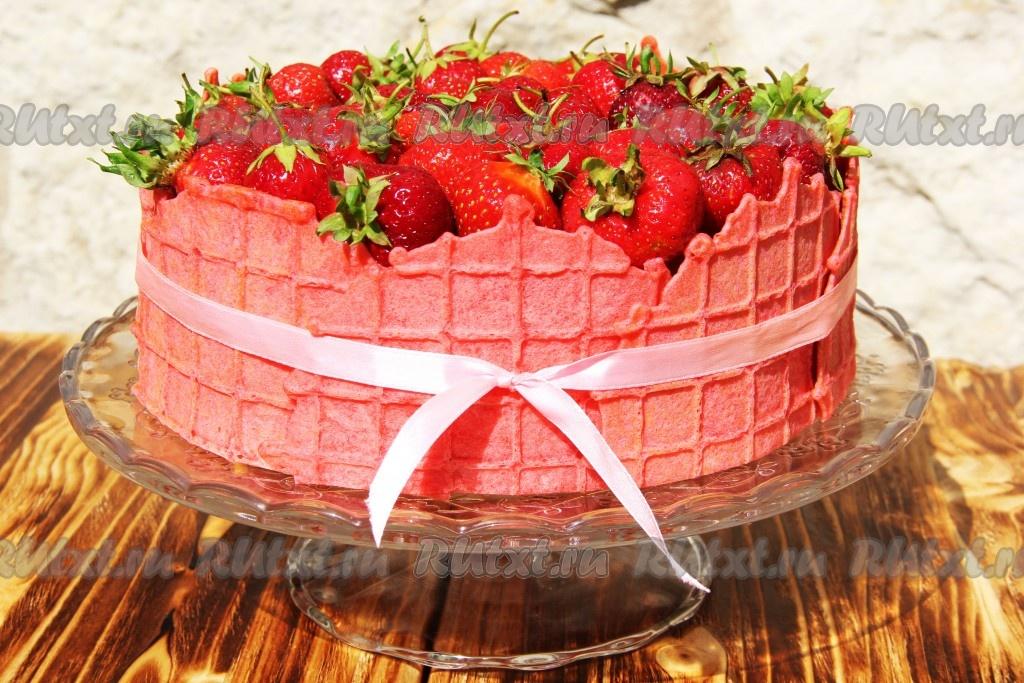 двухъярусный торт с клубникой рецепт