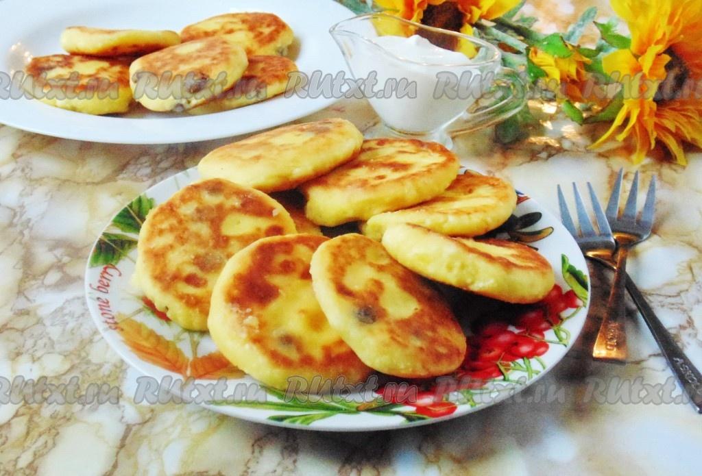 Творожные сырники с изюмом рецепт с фото