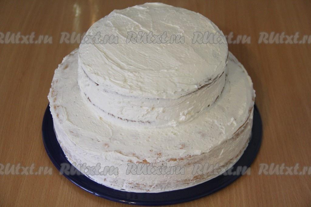 ярусный торт из готовых коржей рецепты с фото