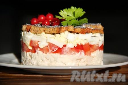 салат из курицы с грибами маринованными рецепт с фото очень вкусный с