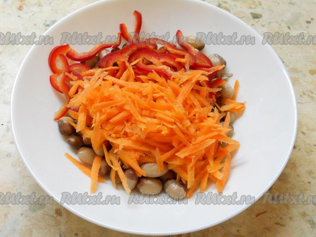 салат с фасолью перцем рецепт с фото
