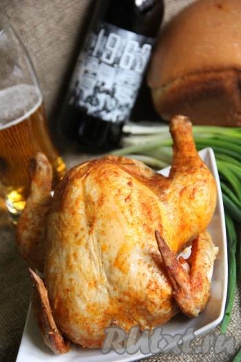 Фаршированная курица с овощами в духовке рецепт 9