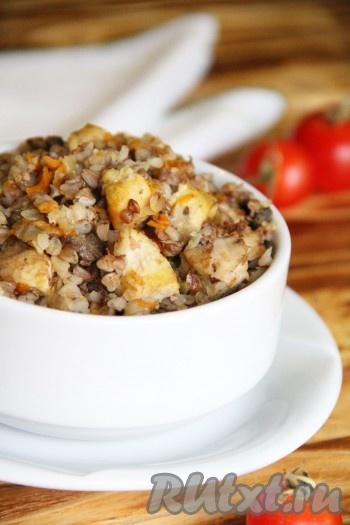 картошка с грибами и куриной грудкой в духовке рецепт #3