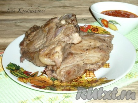 Котлета натуральная из свинины на кости рецепт с фото