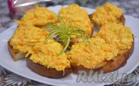 Рулет из лаваша с корейской морковкой и плавленым сыром ...