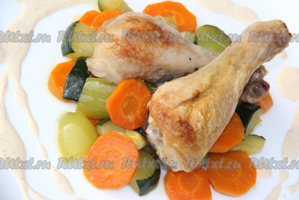 Кабачок баклажан курица рецепт в духовке