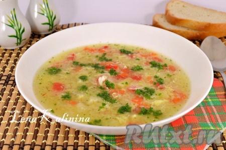 рецепт крабового супа с яйцом
