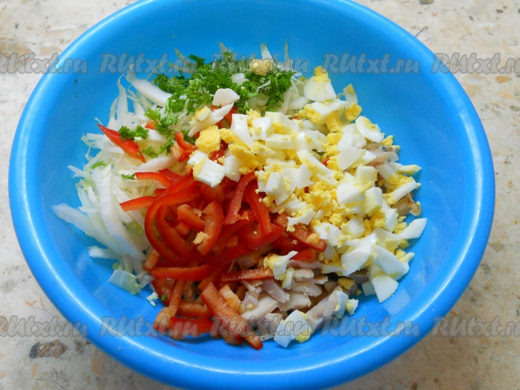 рецепт фото салат с курицей болгарский перец