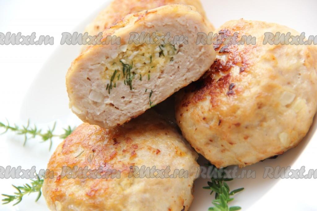 Куриные котлеты с начинкой из яйца и зелени #4