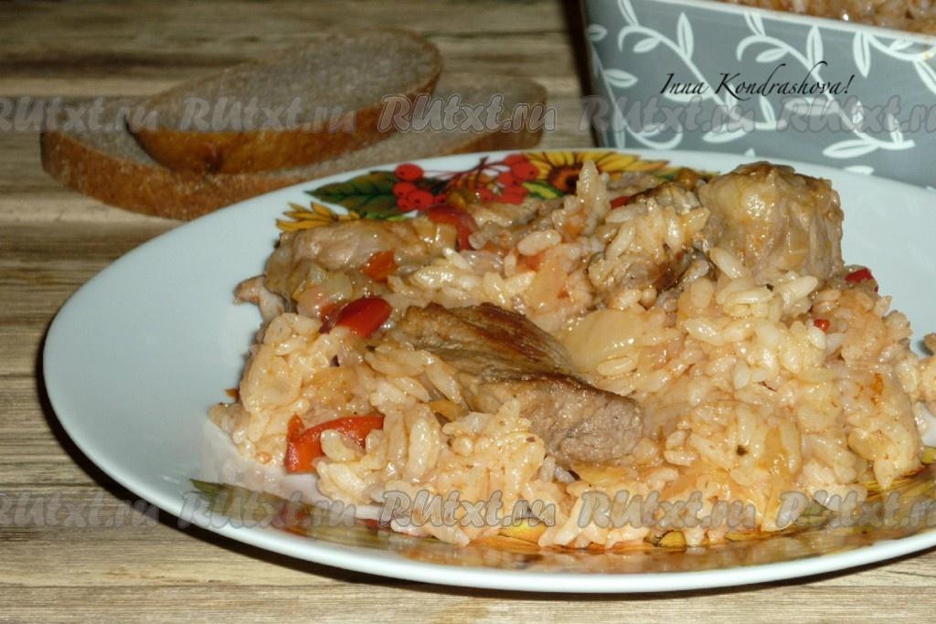 Свинина в горшочках с рисом в духовке рецепт