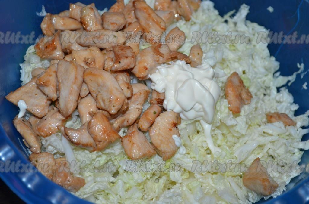 Филе курицы и капуста с фото