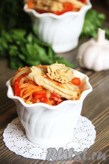 рецепты салатов из соевой спаржи с фото