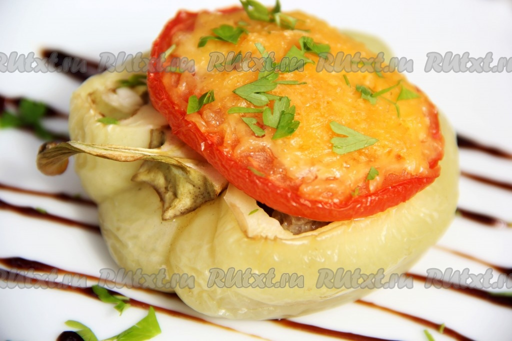 перцы в духовке рецепты с фото